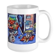 Schnauzer Busy House Mugs