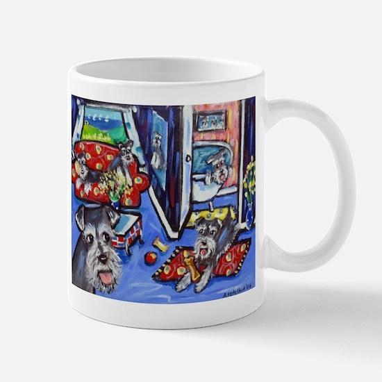 Schnauzer Busy House Mugs