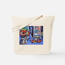 Schnauzer Busy House Tote Bag