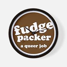 fudge packer Wall Clock