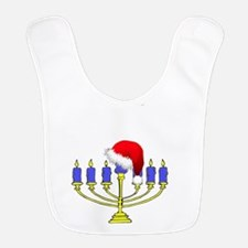 Merry Chrismukkah Menorah Bib