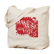make-music-not-hate-red.gif Tote Bag