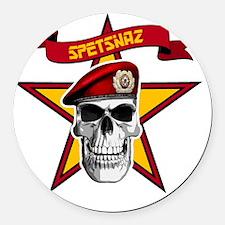 spetsnaz soviet star Round Car Magnet