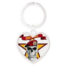 spetsnaz soviet star_btn Heart Keychain