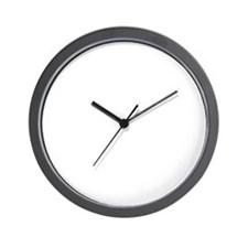 rock star from mars_white Wall Clock