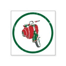 "Vespa-Italiano.gif Square Sticker 3"" x 3"""