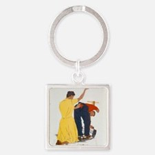 44-PA-382 Square Keychain