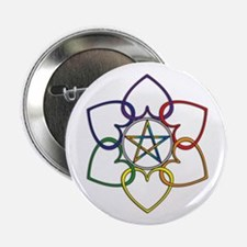 Poly Pagan and Proud Button