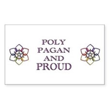 Poly Pagan and Proud Rectangle Decal