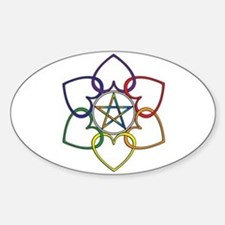Poly Pagan and Proud Oval Decal