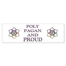 Poly Pagan and Proud Bumper Car Sticker