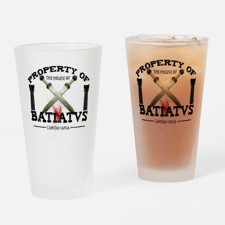 spartacusshirt_white Drinking Glass