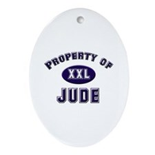 Property of jude Oval Ornament