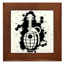 Ukulele Grenade Framed Tile