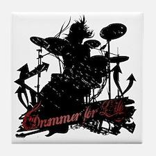 drummer-for-life.gif Tile Coaster