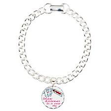 DentalAssistantsDark Charm Bracelet, One Charm