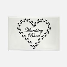 Black Marching Band Heart Rectangle Magnet