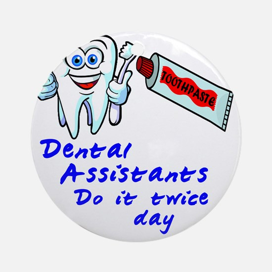 DentalAssistantLight Round Ornament