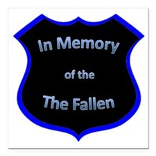"fallen2 Square Car Magnet 3"" x 3"""