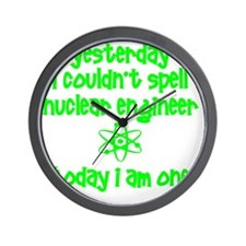funny nuclear engineer Wall Clock