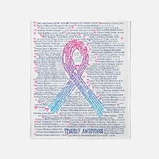 Trisomy awareness names shirt Throw Blanket