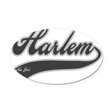 HARLEM NEW YORK Oval Car Magnet