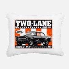Two-Lane-Distress Rectangular Canvas Pillow