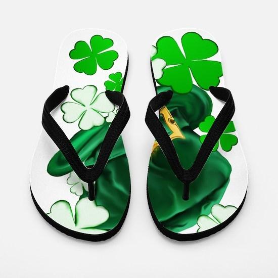 Irish Hat and ShamrocksTrans Flip Flops