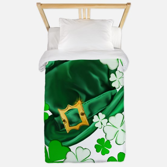 Irish Hat and ShamrocksTrans Twin Duvet