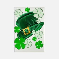 Irish Hat and ShamrocksTrans Rectangle Magnet