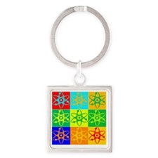 nuclear Square Keychain