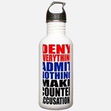 Deny everything-1 Water Bottle