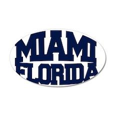MIAMI FLORIDA 35x21 Oval Wall Decal