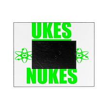 funny ukulele ukes not nukes anti wa Picture Frame