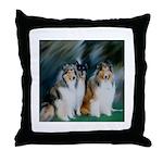 Collie Trio Throw Pillow
