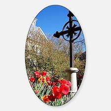 Tulips Sticker (Oval)