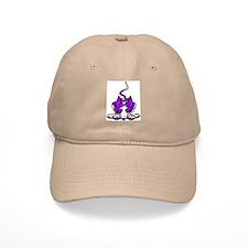 Ib in Purple Baseball Cap