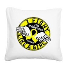 Fight Like A Girl Endometrios Square Canvas Pillow