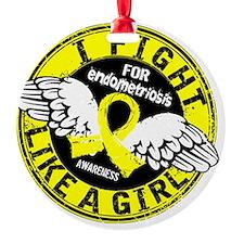 Fight Like A Girl Endometriosis 16. Ornament