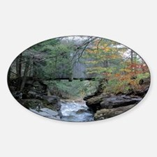 water under bridge Sticker (Oval)