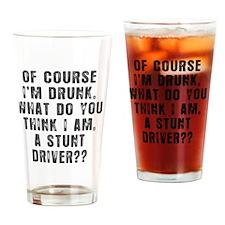 STUNT DRIVER TEE Drinking Glass