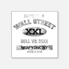 "property of wall street dar Square Sticker 3"" x 3"""