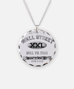 property of wall street dark Necklace
