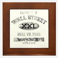 property of wall street dark Framed Tile
