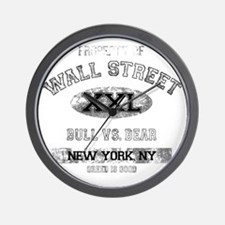 property of wall street dark Wall Clock