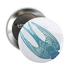 "Blue Swallow 2.25"" Button"