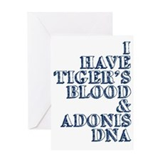 tigers blood adonis dna Greeting Card