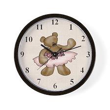 ballerinabearclock Wall Clock