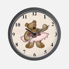 ballerinabearclock Wall Clock