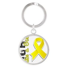D Fight Like A Girl Endometriosis 2 Round Keychain